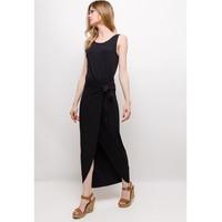 Clothing Women Short Dresses Fashion brands ERMD-1682-NEW-NOIR Black