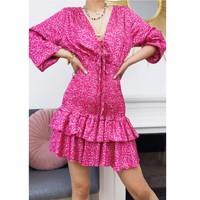 Clothing Women Short Dresses Fashion brands 22974-FUSHIA Fuschia
