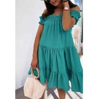 Clothing Women Short Dresses Fashion brands R5119-VERT-D-EAU Green / Water