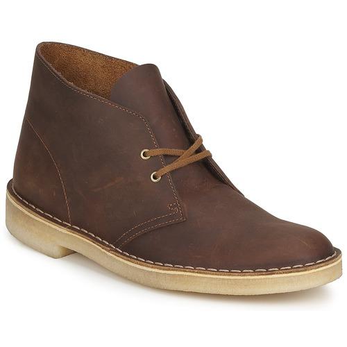Shoes Men Mid boots Clarks DESERT BOOT Brown