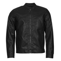 Clothing Men Leather jackets / Imitation leather Only & Sons  ONSMIKE Black