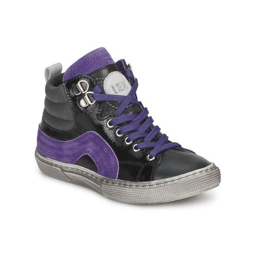 Shoes Boy Hi top trainers Little Mary OPTIMAL Black / Purple