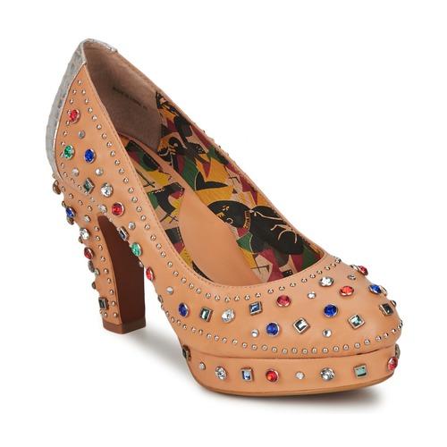 Shoes Women Heels Miss L'Fire SHOWGIRL Beige