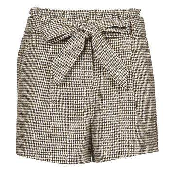 Clothing Women Shorts / Bermudas Betty London PRICSOU Black / Ecru