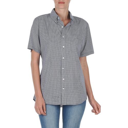 Clothing Women short-sleeved shirts American Apparel RSACP401S White / Blue