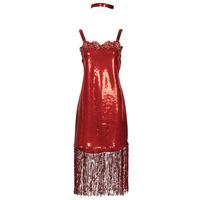 Clothing Women Fancy Dress Fun Costumes COSTUME ADULTE FLAPPER SCARLETT Multicolour