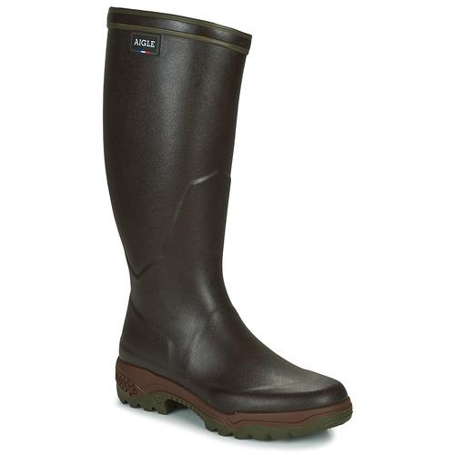 Shoes Men Wellington boots Aigle PARCOURS 2 Brown