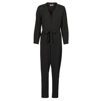Clothing Women Jumpsuits / Dungarees Moony Mood  Black