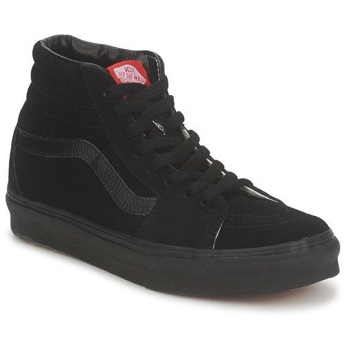 Shoes Men Hi top trainers Vans SK8 HI  black /  black