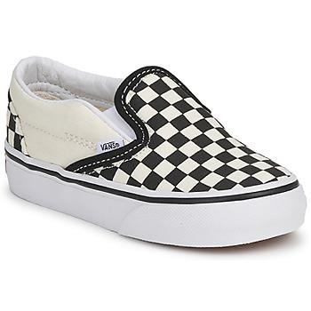 Shoes Children Slip ons Vans CLASSIC SLIP ON KIDS Black / White