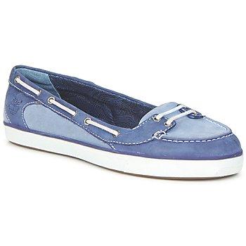 Shoes Women Boat shoes Timberland EK DEERING BOAT BALLERINA GREYSTONE BLUE