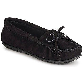 Shoes Women Loafers Minnetonka KILTY SUEDE MOC  BLACK / Suede