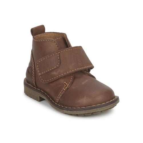 Shoes Boy Mid boots Citrouille et Compagnie MELDUNE Brown