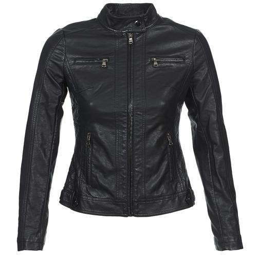 Clothing Women Leather jackets / Imitation leather Moony Mood DUIR Black