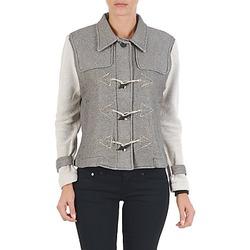 Clothing Women Jackets Diesel G-JAYA-A SWEAT-SHIRT Grey