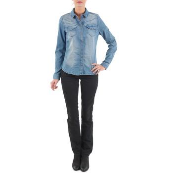 Clothing Women straight jeans Diesel MYBOY TROUSERS Black