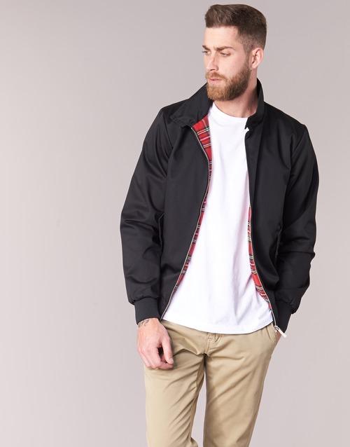 Clothing Men Jackets Harrington HARRINGTON PAULO Black