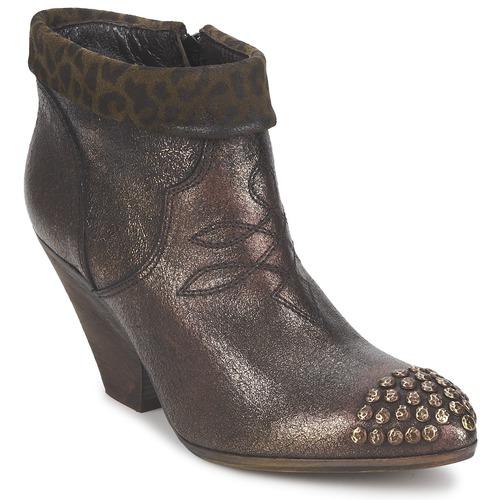 Shoes Women Shoe boots Strategia AILLA Kaki / Aluminium