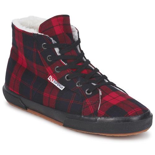 Shoes Hi top trainers Superga 2095 Red / Black