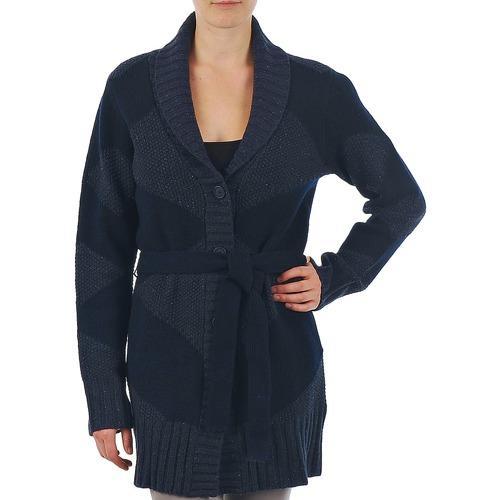 Clothing Women Jackets / Cardigans Gant N.Y. DIAMOND SHAWL COLLAR CARDIGAN Marine