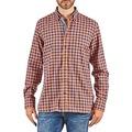 Hackett  SOFT BRIGHT CHECK  mens Long sleeved Shirt in Orange