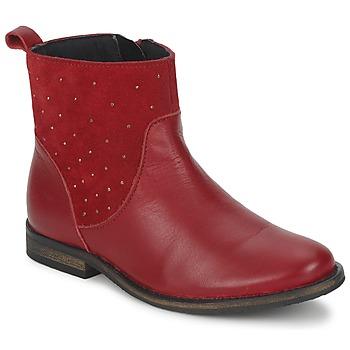 Shoes Girl Mid boots Citrouille et Compagnie BELFINE Red