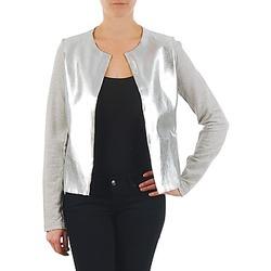 Clothing Women Jackets / Blazers Majestic 93 Grey / Silver