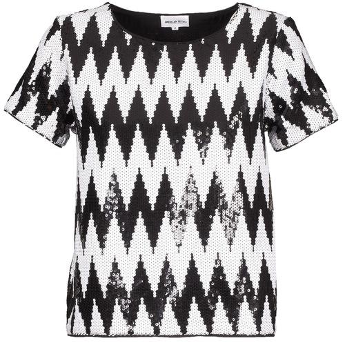 Clothing Women short-sleeved t-shirts American Retro GEGE Black / White