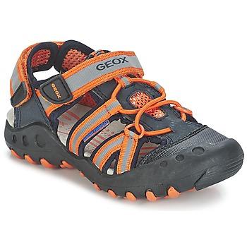 Shoes Boy Outdoor sandals Geox SAND.KYLE C MARINE / Orange