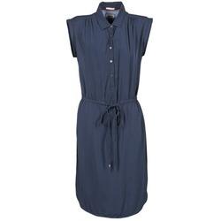Clothing Women Short Dresses Tommy Jeans BASIC SHIRT DRESS Marine