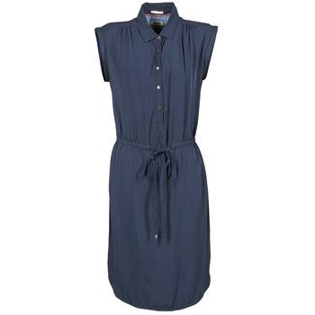 Clothing Women Short Dresses Hilfiger Denim BASIC SHIRT DRESS MARINE