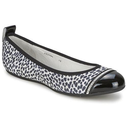 Shoes Women Flat shoes Bikkembergs BASAR 910 Black / White