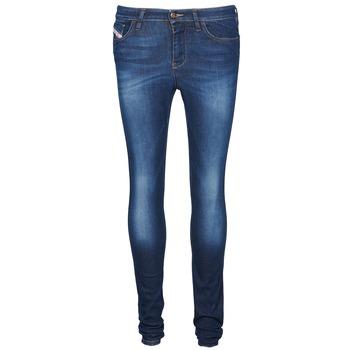 Clothing Women slim jeans Diesel SKINZEE Blue