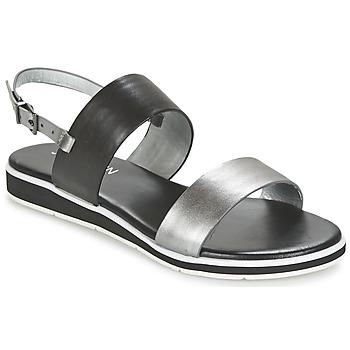 Shoes Women Sandals JB Martin LOU Black / Silver
