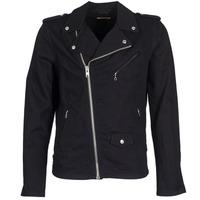 Clothing Men Denim jackets Schott JOHN Black