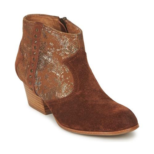 Shoes Women Ankle boots Schmoove WHISPER VEGAS Brown / Glitter