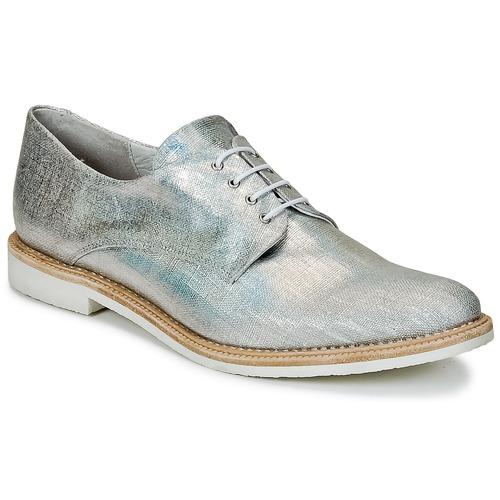 Shoes Women Derby Shoes Miista ZOE Silver / Sparkling