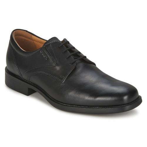 Shoes Men Derby Shoes Geox FEDERICO Black