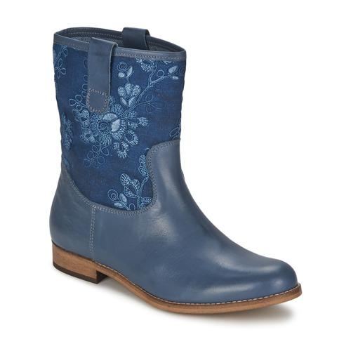 Shoes Women Mid boots Alba Moda FALINA Blue