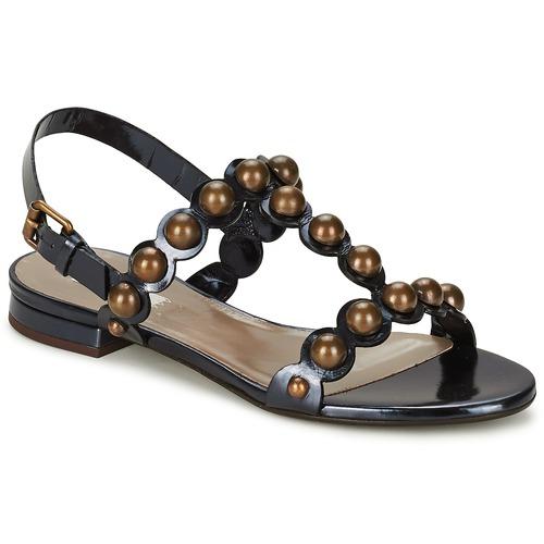 Shoes Women Sandals Marc Jacobs Vegetal Black