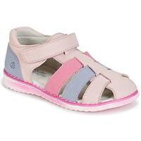 Shoes Girl Sandals Citrouille et Compagnie FRINOUI Pink / Blue / Clear / Fuschia