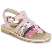 Shoes Girl Sandals Citrouille et Compagnie JASMA Pink / Purple