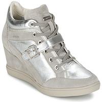 Shoes Women Hi top trainers Geox ELENI C Silver
