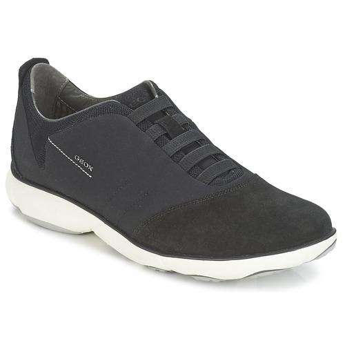 Shoes Men Low top trainers Geox NEBULA B Black