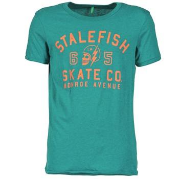 Clothing Men short-sleeved t-shirts Benetton IXIDINE Green