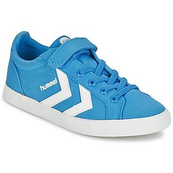 Shoes Children Low top trainers Hummel DEUCE COURT JR Blue
