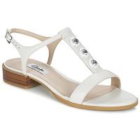 Shoes Women Sandals Clarks BLISS SHIMMER White