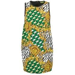 Clothing Women Short Dresses Versace Jeans NDM909 BIS Black / Multicoloured