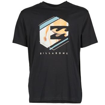 Clothing Men short-sleeved t-shirts Billabong HEXAG SS Black