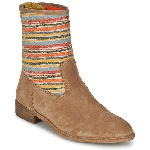 Shoes Women Mid boots Goldmud COLON Taupe / Multicolour